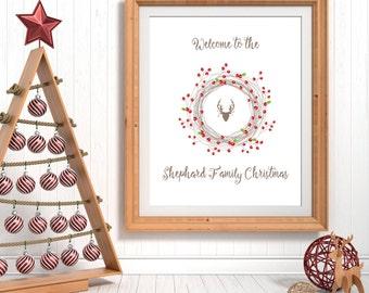Christmas Printables, Family Art, Christmas Art Print, Personalised Christmas Decoration, Christmas Prints, Holiday Gifts, Christmas Decor