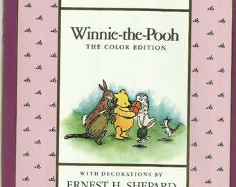 Winnie The Pooh (The Color Edition), by A. A. Milne Vintage Children's Book 1991