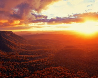 Sunset over the Blue Mountains, Australia
