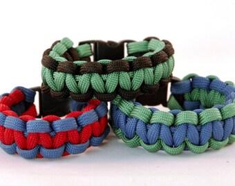 Boys Paracord Bracelet, Kids Bracelet, Childrens Bracelet, Paracord Bracelet, Kids Paracord Bracelet, Cord Bracelet, Two Color Bracelet