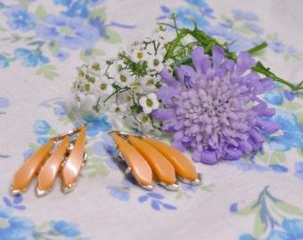 Gorgeous Peach Clip On Earrings