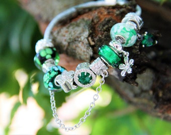 Emeral Pandora Style Bracelet