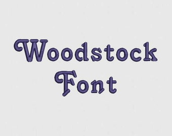 Wood Stock Font 14 Sizes Embroidery Design