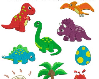 Dino land - motifs for the border 10x10cm