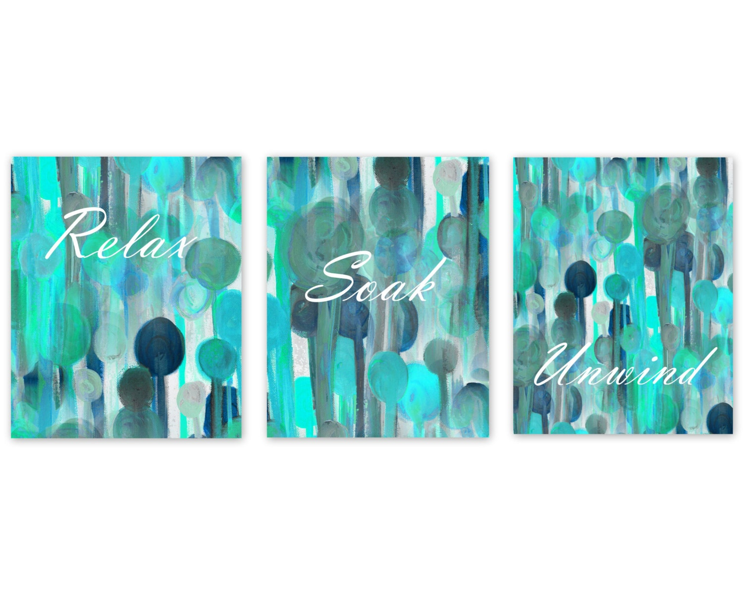 Bathroom Wall Decor Teal Bathroom Decor Turquoise Navy Aqua