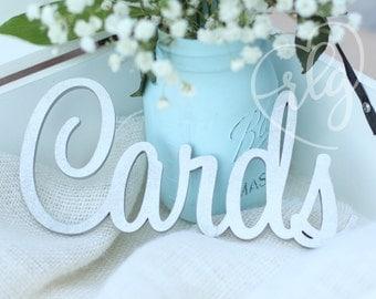 Cards wedding cutout sign prop