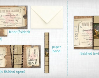 Wedding Invitations: Movie Ticket