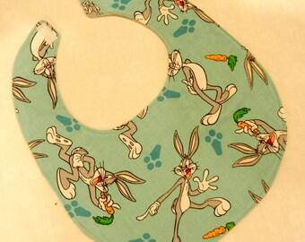 Classic Bugs Bunny Motif Baby Bib