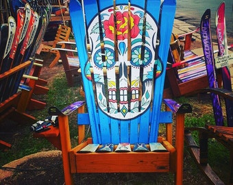 Mexican Sugar Skull/ Day of the Dead Ski Chairs