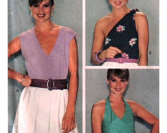 McCalls Sewing Pattern 7088 Misses' Tops  Size:  14  Bust 36  Used