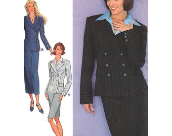 Style Sewing Pattern 2760 Misses' Jacket, Skirt  Size:  A  8-18  Uncut