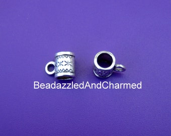 European Compatible Charm/Pendant Converter Bail Bead Hanger and Jump ring set