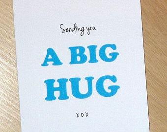 Sympathy / Thinking of you card / bereavement - A Big Hug - handmade greeting card