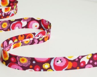 Floral Bias Tape, 3 yards, Floral Bias Binding, Double Fold Bias Tape, Bias Trim, Bias Binding, Decorations, Multicolor