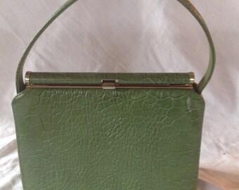 Vintage Green Mar-Shel Ladies Handbag