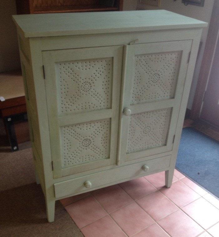 Primitive 8 Tin Pie Safe/ Antique Kitchen Cabinet/ Farmhouse