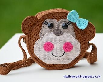 Crochet Pattern - Lucky Monkey Purse