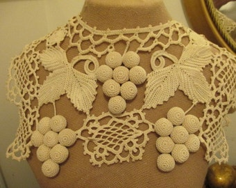 Crocheted Grapes Collar