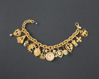 Vintage Kirks Folly Charm Bracelet Watch