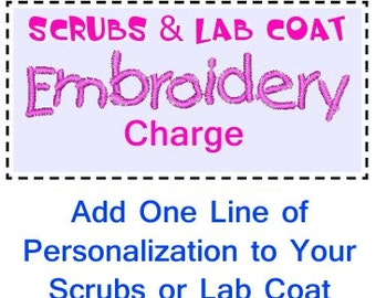Embroidery Charge for One Line