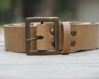 """Custom sized belt,1.50"""" width,leather belt,handemade leather belt,natural colour belt"""