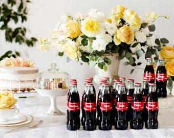 Personalized Diet Coke, Coke Zero or Coca Cola for Bridal Party, Bride Groom Bridesmaids Groomsmen Unique decoration rehearsal dinner party