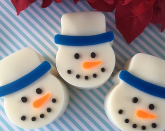 Snowman Soap - Christmas Soap - Winter Soap - Snowman Soap Favors - Christmas Gift - Stocking Stuffer - Kids Gift - Holiday Soap