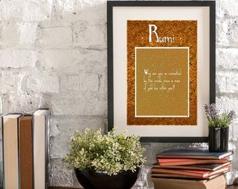 March Gold Mine Within You A Year of Rumi Inspirational Quote Artwork Print Poster