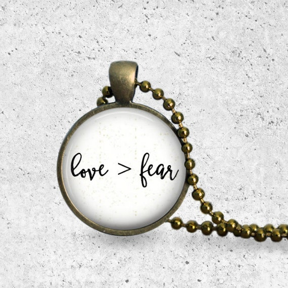 Heart Necklace, Fearless Necklace, Love Is Greater Than Fear, Fearless, No Fear, Be Brave, Do Not Fear, Christian Necklace, Bible, Scripture