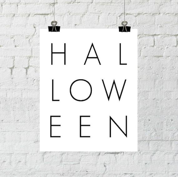 Halloween Wall Art, Halloween Decoration, Minimalist Halloween, Download Print, Halloween Party Sign, Black and White Wall Art