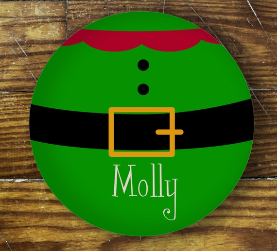 Personalized Dinner Plate or Bowl - Elf