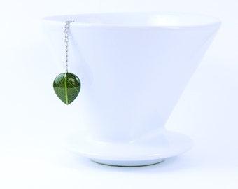 SALE: Loose Tea Infuser Green Leaf Mesh Ball Tea Strainer Loose Leaf Tea Gift Leaf Pendant