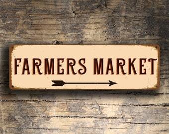 FARMERS MARKET SIGN, Farmers Market Signs, Vintage style Farmers Market Sign,  Farmers Market, Outdoor Farmers Market Sign, Farmers Markets