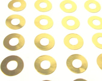 Metallic Gold Foil Hole Reinforcement Stickers for Parcel Tags or Paper