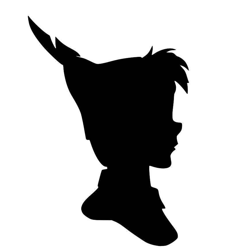 peter pan and wendy silhouette svg cricut  scanncut deer head clip art blue deer head clip art png