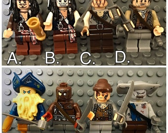 Personalised handmade Pirates Of The Caribbean lego keychain