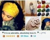 On Sale, Ready to Ship, Trending Crochet Hair Accessories, Crochet Headband, Women's Headband, Ear Warmer, Head Wrap, Hair Accessories