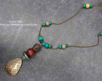"Zen long necklace pendant pearls "" Bao """