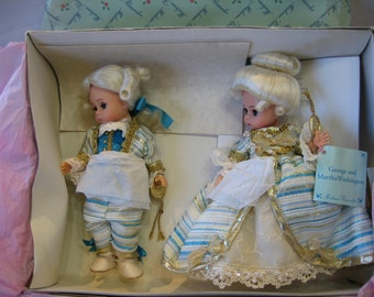 Madame Alexander George and Martha Washington Vintage Retired in Box
