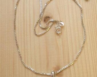 Sterling silver swarovski  light vitrail pedant necklace, swarovski light vitrail, for her, vintage, necklace