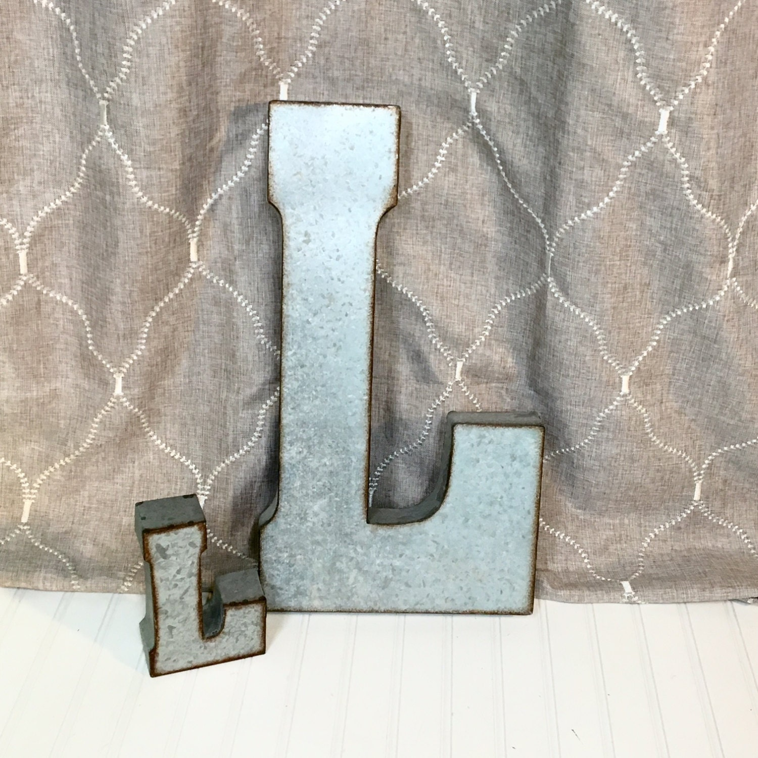 Large metal letters farmhouse letters galvanized for Giant galvanized letters