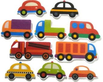 Felt board, Cars and Trucks, homeschool, felt board pieces, flannel board, felt board story, quiet book, busy book, felt story, Felt Vehicle