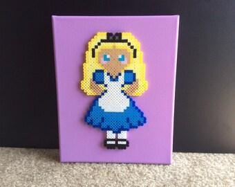 Alice in Wonderland 8x10 canvas decor, girls room decor, Disney