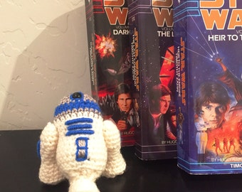 R2-D2 Droid Crochet Doll - R2-D2 Droid Plush - Star Wars R2-D2 Droid Plush - R2-D2 Droid Amigurumi