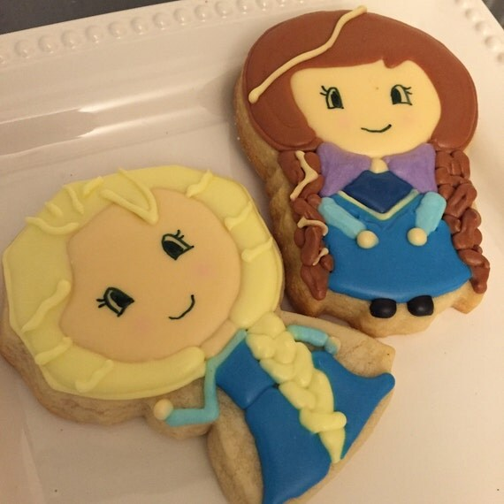 Ice Queen and Princess Cookies