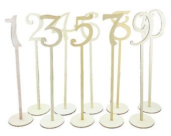 Wooden Table Number 1-10  Centrepieces  Eco Friendly Table Decor