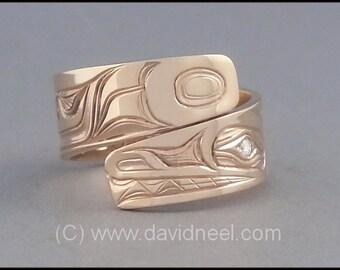 Wolf Ring - Northwest Coast Native Indian