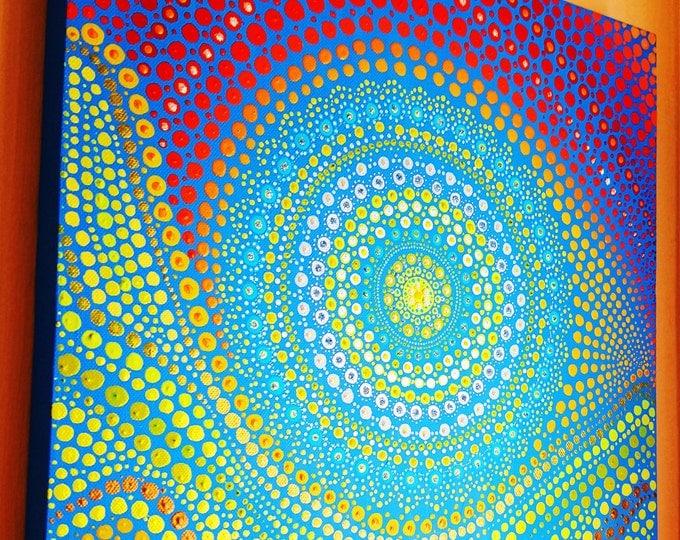 Mandala art digital download. Original Indigenous Bohemian boho hanging art. Hippy dot art. Home decor. Ethnic painting Gift ideas handmade.