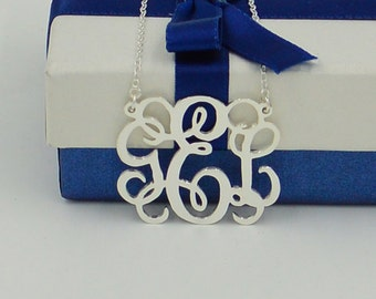 Sterling silver monogram necklace-Summer sale-you can order any initial