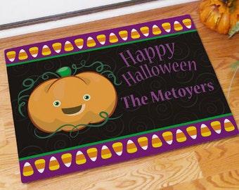 Personalized Halloween Door Mat, Front Door Mat